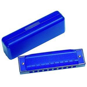 Armónica para niños azul en carcasa de plástico