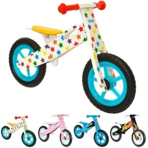 Bici sin pedales de madera