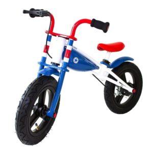 Bicicleta azul sin pedales