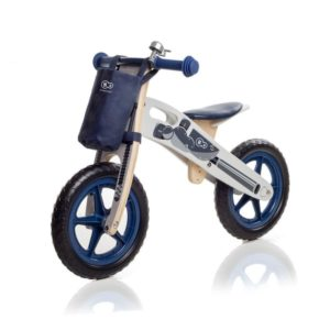 Bicicleta de madera sin pedales con campana