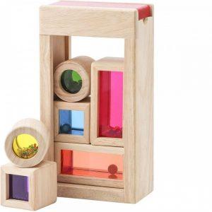 Caja de madera sensorial para bebés