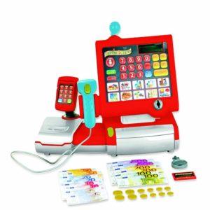 Caja registradora de juguete con luz y sonido