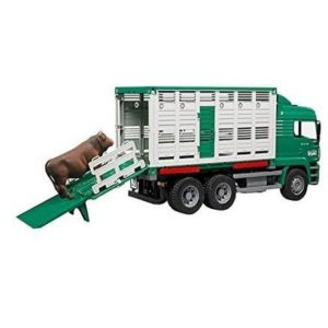 Camión de juguete para trasporte de ganado Bruder