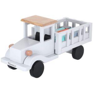 Camión de madera con piezas