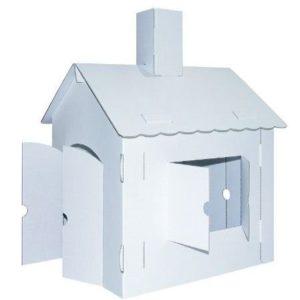 Casa de juguete de cartón