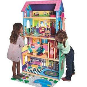 Casa de muñecas con ascensor y muebles