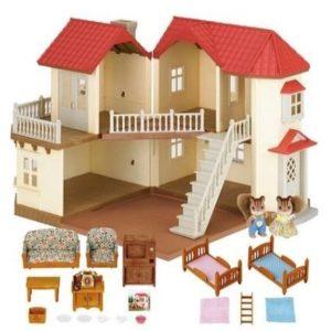 Casa de muñecas con iluminación
