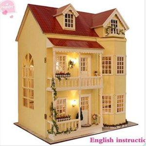 Casa de muñecas en miniatura de artesanía