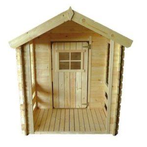 Casita de madera infantil con porche