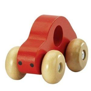 Coche de madera rojo