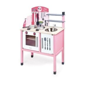 Cocina de madera rosa Janod Mademoiselle