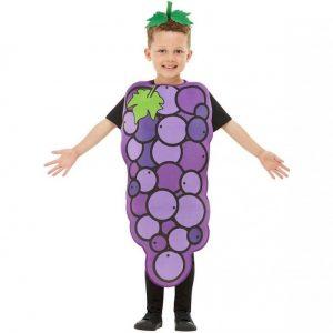 Disfraz de racimo de uvas para niños