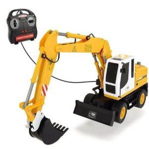 Excavadora con control remoto con cable