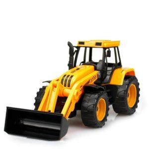 Excavadora de juguete amarilla para niños