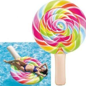 Flotador gigante para piscina piruleta de colores