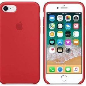 Funda para iPhone de silicona rosa