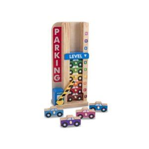 Garaje para coches de madera