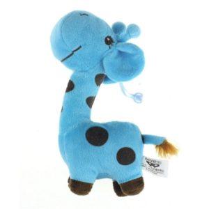 Jirafa de peluche azul