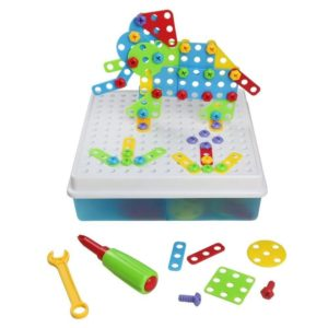 Juego de mesa de bloques para niños