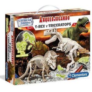 Juego educativo de dinosaurios Clementoni