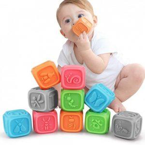 Juguete sensorial de bloques para bebés