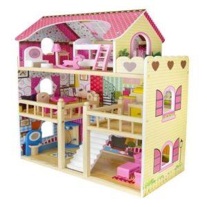 Mansión Casa de muñecas de madera