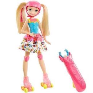 Muñeca Barbie patinadora superheroína