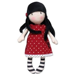 Muñeca de trapo con vestido de lunares