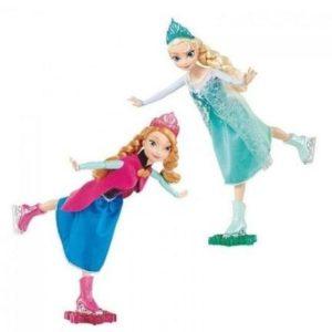 Muñeca patinadora Ana y Elsa