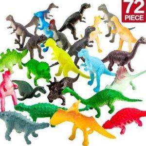 Pack de dinosaurios de juguete pequeños Zoo World
