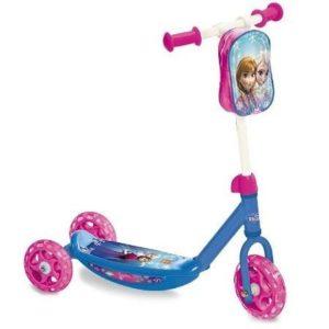 Patinete de tres ruedas Frozen con bolsa