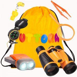 Prismáticos para niños con kit de exploración