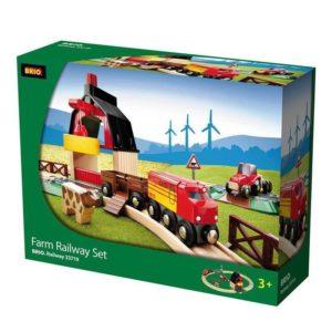 Set circuito de tren con granja