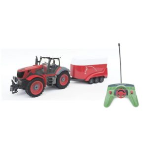 Tractor radiocontrol con remolque practicable