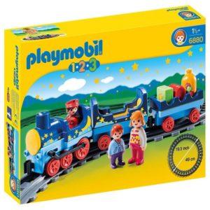 Tren con vías de Playmobil