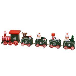 Tren de madera de Navidad