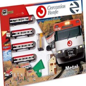 Tren eléctrico de cercanías de una planta